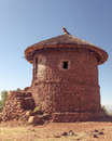 Traditional house at Lalibela in Ethiopia Royalty Free Stock Photography