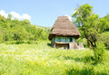 Traditional house with straw roof Stock Photography