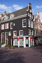 Traditional houses in amsterdam old dutch style corner of the keizersgracht and herenstraat netherlands Royalty Free Stock Photo