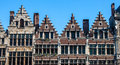 Traditional houses in antwerp on market square the center of belgium Royalty Free Stock Image
