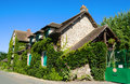 Traditional houses giverny france in better known for the house of monet Stock Photography