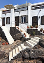 Traditional houses in Puerto Del Carmen, Lanzarote Royalty Free Stock Images