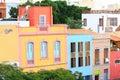 Traditional houses in Santa Cruz de Tenerife Royalty Free Stock Image