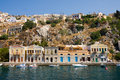 Traditional houses on symi island Stock Photos