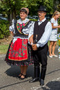 Traditional Hungarian harvest parade on september 11, 2016 in vi Royalty Free Stock Photo