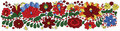 Traditional hungarian matyo decoration embroidery pattern region city mezokovesd Stock Image