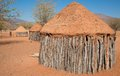 Traditional huts of himba people closeup hut in namibia Stock Photo