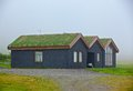 Traditional icelandic house with the grass covered roof west fjords iceland Royalty Free Stock Images