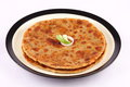 Traditional Indian bread-Aloo paratha Royalty Free Stock Photo