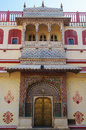 Traditional indian doorway in city palace jaipur india Stock Image