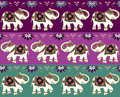 Traditional indian elephant background Royalty Free Stock Photos