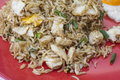 Traditional indian food chicken fried rice with egg closeup Stock Image
