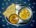 Traditional Indian Food Thali Full of Nutrients