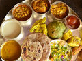 Traditional Indian vegeterian platter Royalty Free Stock Image