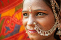 Traditional Indian woman closeup Royalty Free Stock Photography
