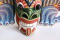 Traditional Indonesian (Balinese) mask-souvenir Royalty Free Stock Photography