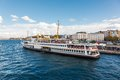Traditional Istanbul passenger ferry Royalty Free Stock Photo