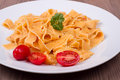 Traditional italian pasta on a table Royalty Free Stock Image