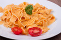 Traditional italian pasta on a table Stock Photography