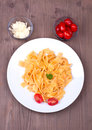 Traditional italian pasta on a table Stock Images