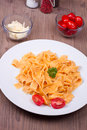 Traditional italian pasta on a table Stock Photo