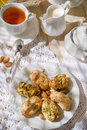 Traditional italian pastries handmade made with dried fruit Stock Photography