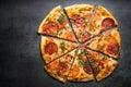 Traditional italian pizza Royalty Free Stock Photo