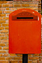 Traditional Italian postal box Royalty Free Stock Photo