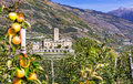Traditional Italy - castles and gardens of Valle d'Aosta - Sarre Royalty Free Stock Photo