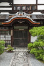Traditional japanese architecture in gion kyoto japan Royalty Free Stock Photo