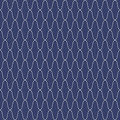 Traditional Japanese Embroidery Ornament. Wavy Sashiko. Vector seamless pattern. Royalty Free Stock Photo