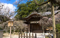 Traditional Japanese shrine, Shinto temple at Dazaifu. Royalty Free Stock Photo