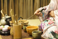 Traditional japanese tea ceremony Royalty Free Stock Photo