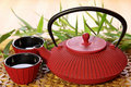 Traditional Japanese teapot Stock Image