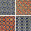 Traditional Japanese vector patterns Royalty Free Stock Photos