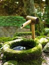 Traditional Japanese water fountain Royalty Free Stock Photo