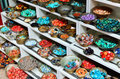 Traditional jewelery stones on market Royalty Free Stock Images