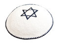 Traditional jewish headwear with embroidered star of david Royalty Free Stock Photography
