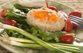 Traditional jewish passover dish gefilte fish on plate Royalty Free Stock Photo