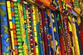 Traditional Kente cloth on sale on the streets of Accra, Ghana Royalty Free Stock Photo
