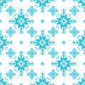 Traditional knitted pattern of snowflackes christmas background Stock Photography