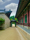 Traditional korean architectural style seoul south korea Royalty Free Stock Images