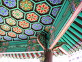 Traditional korean building a look up at the ceiling of a Royalty Free Stock Images