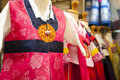 Traditional korean dress a shot of Royalty Free Stock Photography