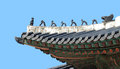 Traditional Korean Roof Royalty Free Stock Photo