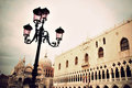 Traditional lamp post venice san marco square vintage style Stock Images