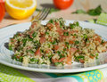 Traditional lebanese salad tabouli with quinoa Stock Photo