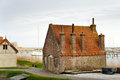 Traditional little old dutch brick house Royalty Free Stock Photo