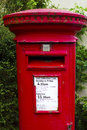 Traditional london red letter box Royalty Free Stock Photo