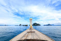stock image of  Traditional long tail boat on the way to famous beach in Krabi,